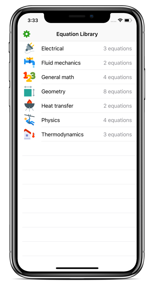 Equation Library -- a mobile app to help with math